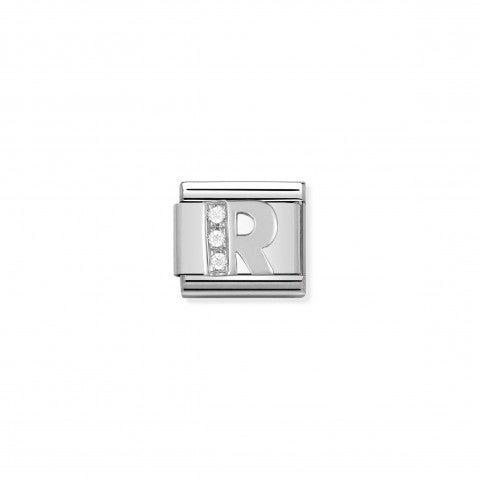 Link_Composable_Classic_en_Argent_Lettre_R_Link_Alphabet_en_Argent_et_Cubic_Zirconia