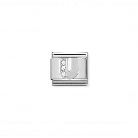 Link_Composable_Classic_en_Argent_Lettre_U_Link_en_Acier,_Argent_925_et_Cubic_Zirconia_Lettres