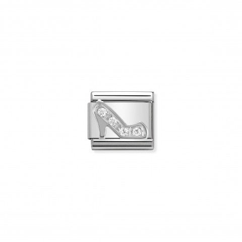 Composable_Classic_Link_Shoe_in_Silver_and_Stones_Stainless_steel_Shoe_symbol_in_silver_and_Cubic_Zirconia