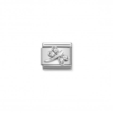 Composable_Classic_Link,_Dragonfly,Silver_and_CZ_Link_with_Cubic_Zirconia