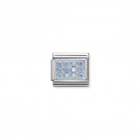 Composable_Classic_Link_in_Silver_and_light_blue_Stones_Stainless_steel_Classic_Link_in_silver_and_light_blue_Cubic_Zirconia