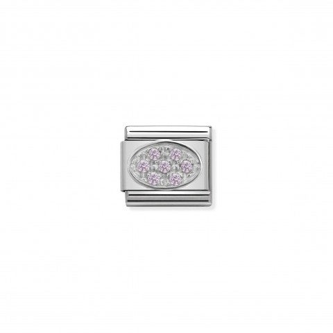 Link_Composable_Classic_in_Argento_e_pietre_Ovale_Rosa_Link_in_Argento_925_con_Cubic_Zirconia_rosa