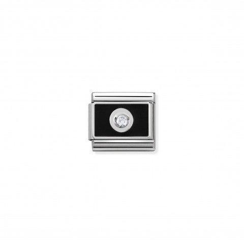 Link_Composable_Classic_Placca_nera_con_Pietra_Enamel_plated_Link_with_Cubic_Zirconia