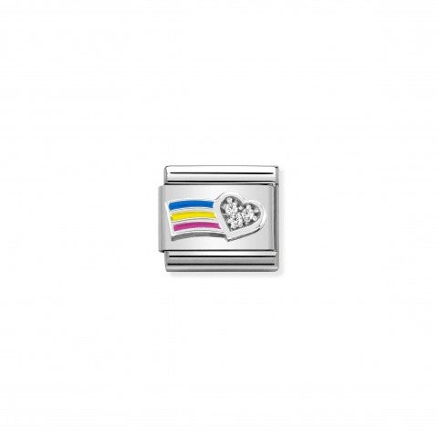 Composable_Classic_Link_Silver_Rainbow_Link_with_White_CZ_and_Coloured_Enamel