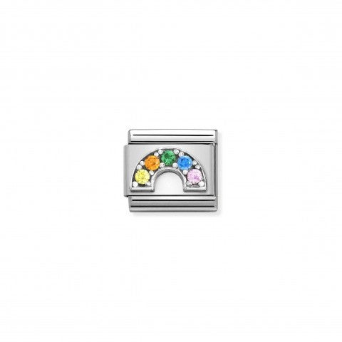 Composable_Classic_Link_with_CZ_Rainbow_Coloured_Link_in_sterling_silver