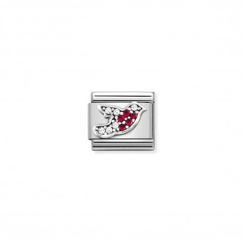Composable_Classic_Link_Silver_Robin_with_CZ_Link_with_red_Cubic_Zirconia