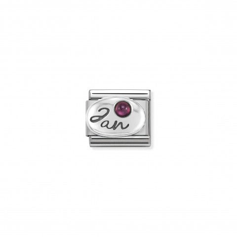 Composable_Classic_January_Link_in_Silver_Link_with_Garnet_gemstone