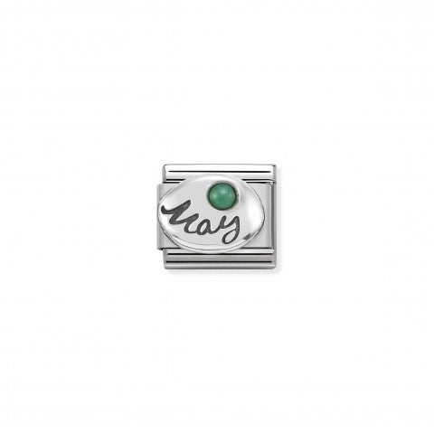 Composable_Classic_May_Link_in_Silver_Link_with_Emerald_gemstone