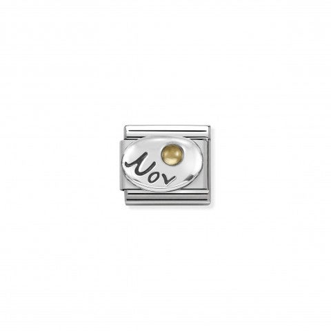 Composable_Classic_November_Link_in_Silver_Link_with_Citrine_gemstone