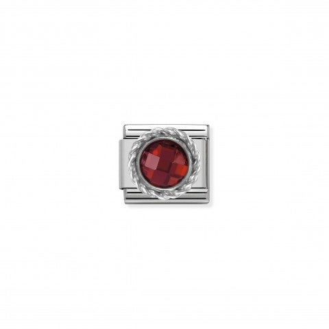 Link_Composable_Classic_in_Argento_Pietra_Rossa_Link_in_Argento_925_e_Cubic_Zirconia_sfaccettato
