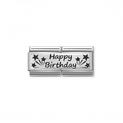 Composable_Classic_Happy_Birthday_Double_Link_Link_with_writing_in_black_enamel_and_Stars