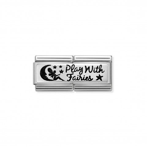 Composable_Classic_Double_Link_Play_with_Faires_Link_with_writing_in_black_enamel