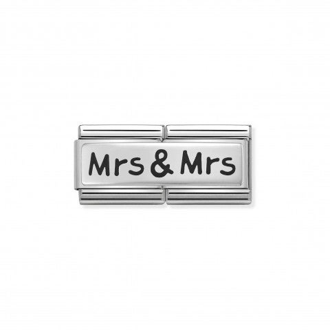 Link_doppio_composable_classic_Mrs_e_Mrs_Link_in_Argento_925_ossidato_con_incisione_Mrs_&_Mrs