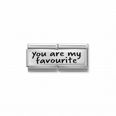 Composable_Double_Link_YOU_ARE_MY_FAVOURITE_Link_in_Stainless_Steel_with_inscription