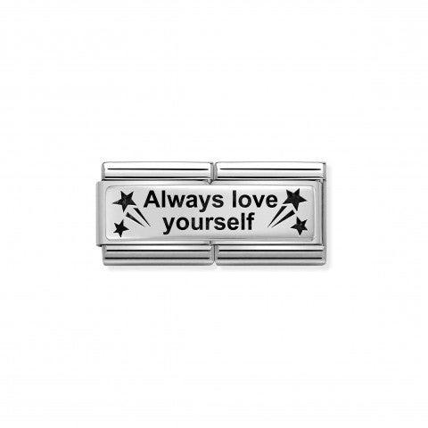 Link_doble_Composable_Classic_Love_Yourself_Link_doble_en_Plata_925_y_texto