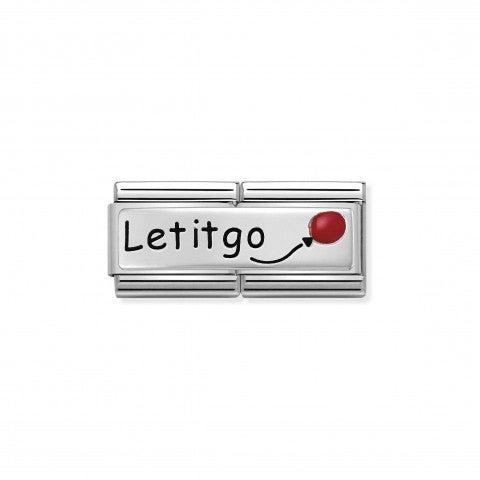 Link_doppio_composable_classic_Let_it_Go_Link_in_Argento_925_ossidato_e_Smalto_con_incisione_Let_it_Go