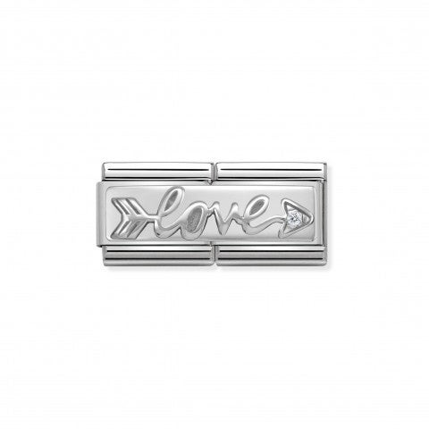 Composable_Classic_Double_Link_Love_Arrow_Link_with_Love_writing_in_sterling_silver_and_Zirconia