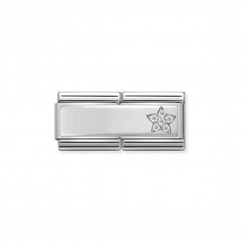 Classic_Composable_Double_Link_Star_Sterling_Silver_Inscribable_Link_with_Cubic_Zirconia_Star