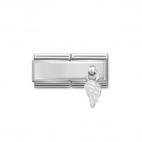 Composable_Classic_Double_Link_White_Wing_Engraving_link_in_sterling_silver_and_enamel