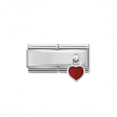 Composable_Classic_Double_Link_Red_Heart_Engraving_link_with_pendant