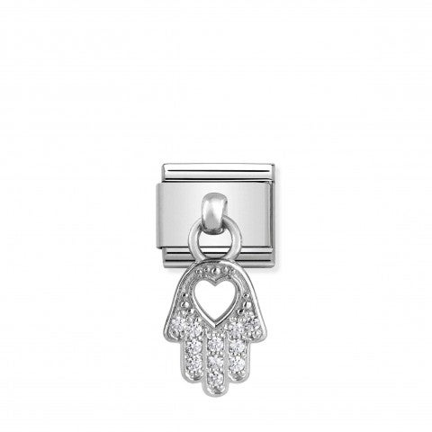 Composable_Classic_Link_Hand_of_Fatima_silver_pendant_Link_in_stainless_steel_with_religious_symbol