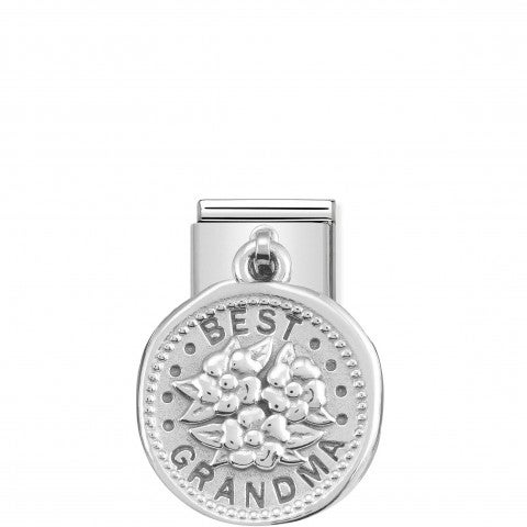 Classic_Composable_Best_Grandma_Pendant_Link_Sterling_Silver_Link_with_Flowers