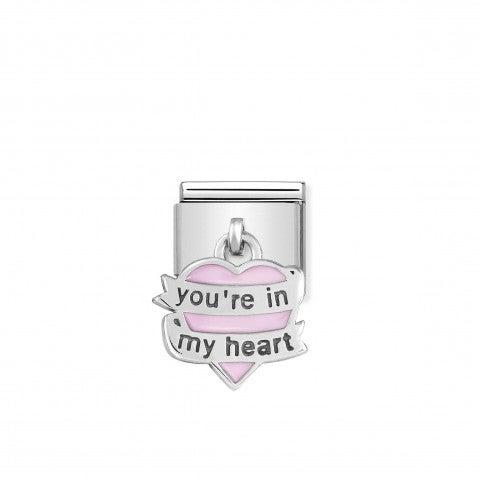 Link_Composable_Classic_Pendente_Cuore_Rosa_in_Argento_Link_in_Argento_925_e_Smalto_con_Cuore_You_are_In_My_Heart