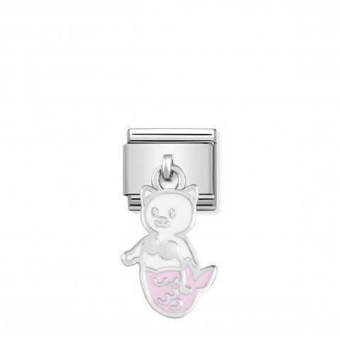 Composable_Classic_Link_Kitty_Mermaid_Cat_Link_in_Sterling_silver_and_enamel