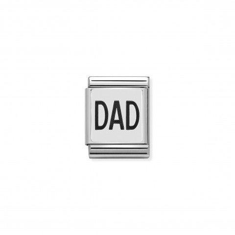 Link_Composable_Big_Dad_Link_con_scritta_Dad_in_Argento_925