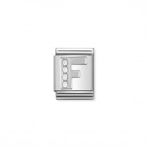 Link_Composable_Big_Lettera_F_in_Argento_e_Pietre_Link_in_Argento_925_e_Cubic_Zirconia_con_lettera_F