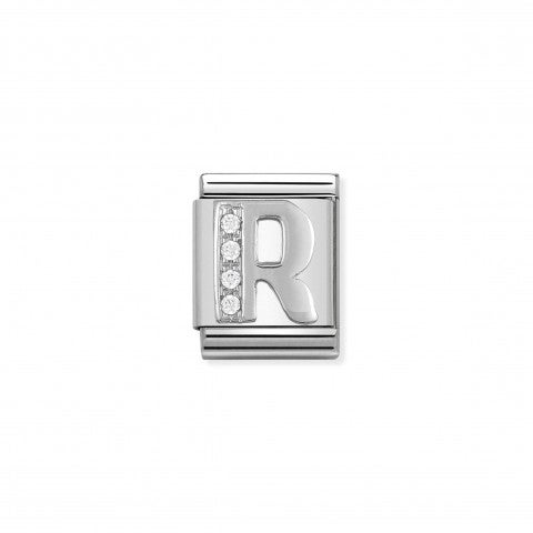 Link_Composable_Big_Lettera_R_in_Argento_e_Pietre_Link_in_Argento_925_e_Cubic_Zirconia_con_lettera_R