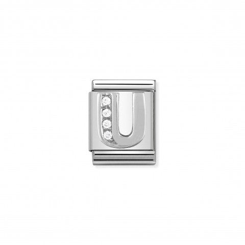 Link_Composable_Big_Lettera_U_in_Argento_e_Pietre_Link_in_Argento_925_e_Cubic_Zirconia_con_lettera_U