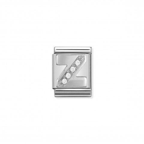 Link_Composable_Big_Lettera_Z_in_Argento_e_Pietre_Link_in_Argento_925_e_Cubic_Zirconia_con_lettera_Z
