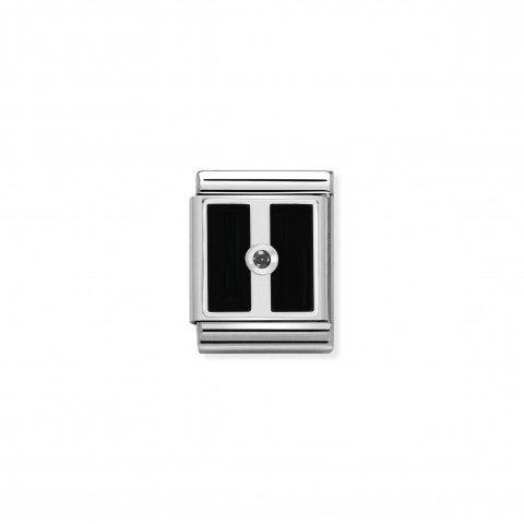 Link_Composable_Big_Rettangoli_con_Pietra_Link_in_Argento_925_e_Cubic_Zirconia_Geometrie