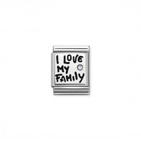 Link_Composable_Big_I_Love_My_Family_Link_in_Argento_e_smalto_My_Family