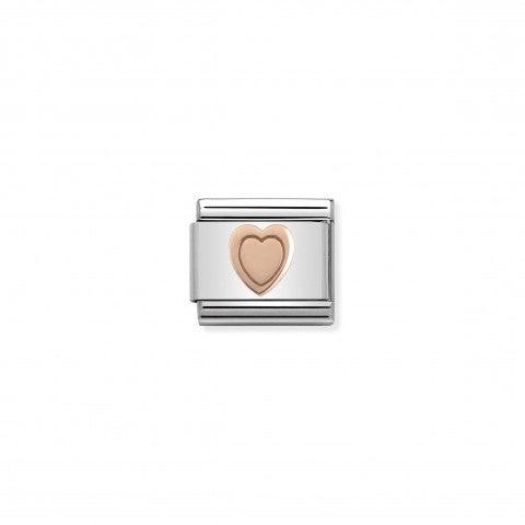 Link_Composable_Classic_Cuore_in_Oro_rosa_375_Link_a_tema_amoroso_in_Acciaio_e_Oro_rosa_375