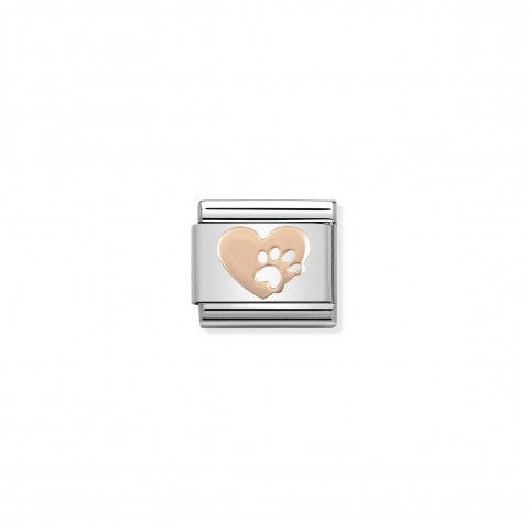 Composable_Classic_Link_Rose_Gold_Heart_with_Paw_Stainless_steel_Link_with_rose_gold_I_Love_My_Pet