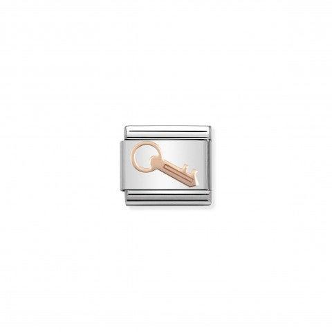 Link_Composable_Classic_Chiave_in_Oro_rosa_Link_con_simbolo_chiave_in_Acciaio_e_Oro_rosa_375