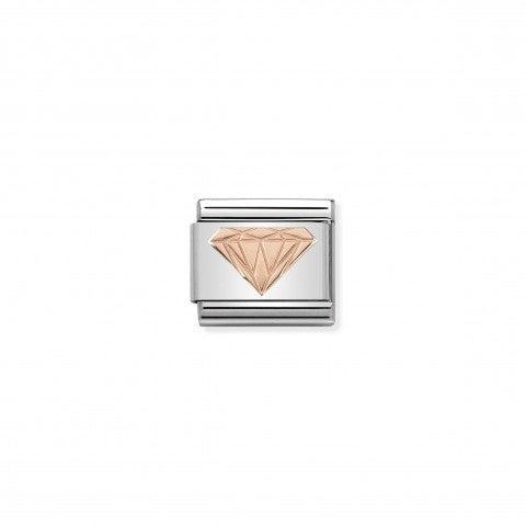 Link_Composable_Classic_Brillante_in_Oro_rosa_Link_con_simbolo_di_diamante_in_Acciaio_e_Oro_rosa_375