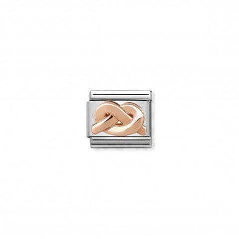 Composable_Classic_Link_Nodo_oro_rosa_Link_in_acciaio_e_oro_rosa_375_simbolo_unione