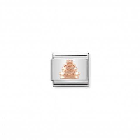 Composable_Classic_Tiered_Cake_Link_in_9K_Rose_Gold_Link_in_stainless_steel_with_symbol_in_9K_rose_gold