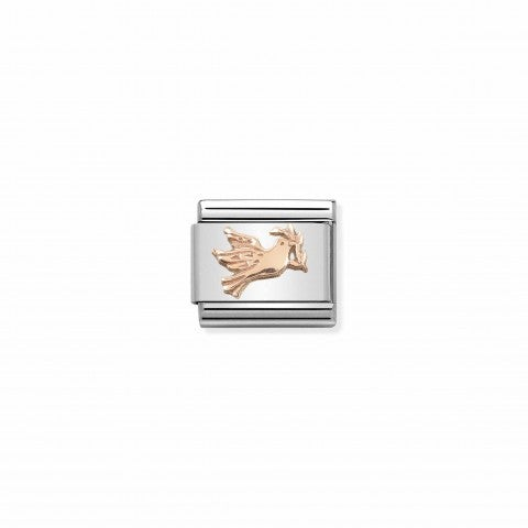 Composable_Classic_Link_Dove_in_Rosegold_Stainless_steel_Link_with_9K_Rosegold