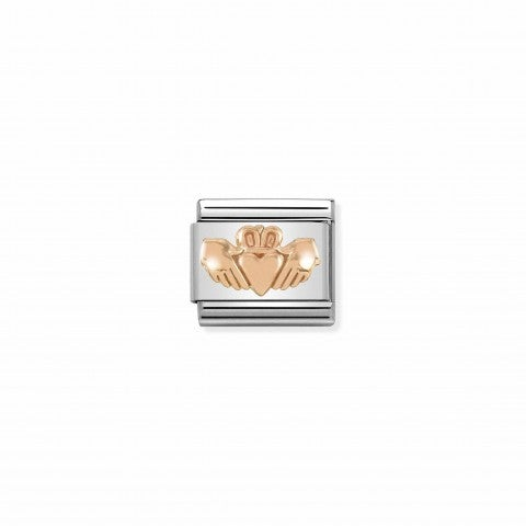 Composable_Classic_Link_Claddagh_in_Rose_gold_Link_with_9K_Rosegold_symbol