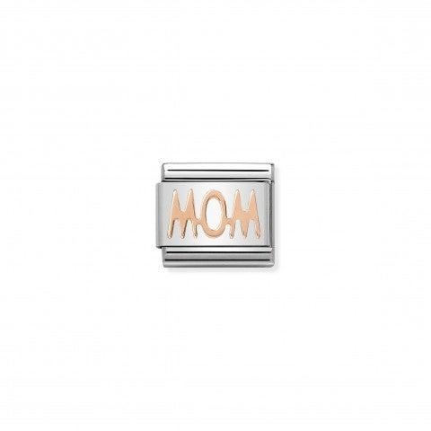 Link_Composable_in_oro_rosa_Mom_Link_per_bracciale_Composable_in_oro_rosa_scritta_Mamma