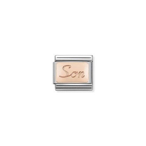 Link_Composable_Classic_Figlio_in_Oro_rosa_Link_in_Oro_rosa_375_con_scritta_inglese