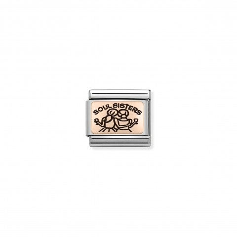 Composable_Classic_Link SOUL_SISTERS_Link_in_rosegold_and_black_enamel_and_symbol