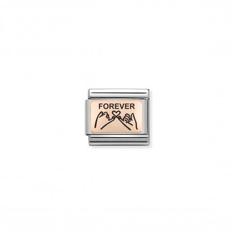 Composable_Link Rosegold_FOREVER_Pinky_Promise_Link_with_rosegold_with_Friendship_symbol
