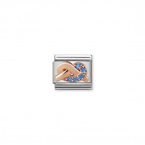 Composable_Classic_Link_Nodo_Madre_Figlio_Link_in_acciaio_e_oro_rosa_375_simbolo_Mother-_Son_Bonding