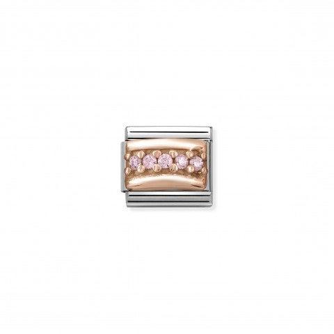 Link_Composable_Classic_in_Oro_rosa_e_Pietre_rosa_Link_in_Acciaio_e_Cubic_Zirconia_rosa