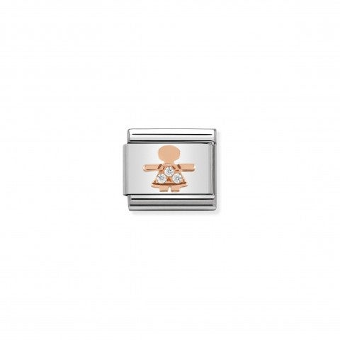 Composable_Classic_Girl_Link_in_Rose_Gold_Link_in_rose_gold_and_stones_with_Girl_symbol